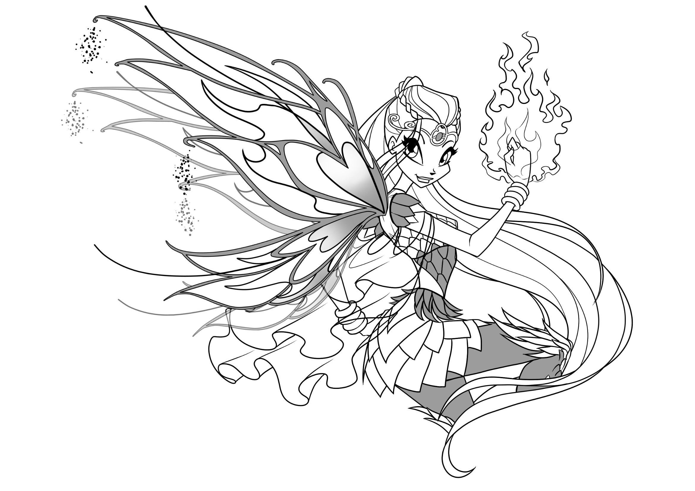 Winx Club Bloomix coloring pages to download and print for ...