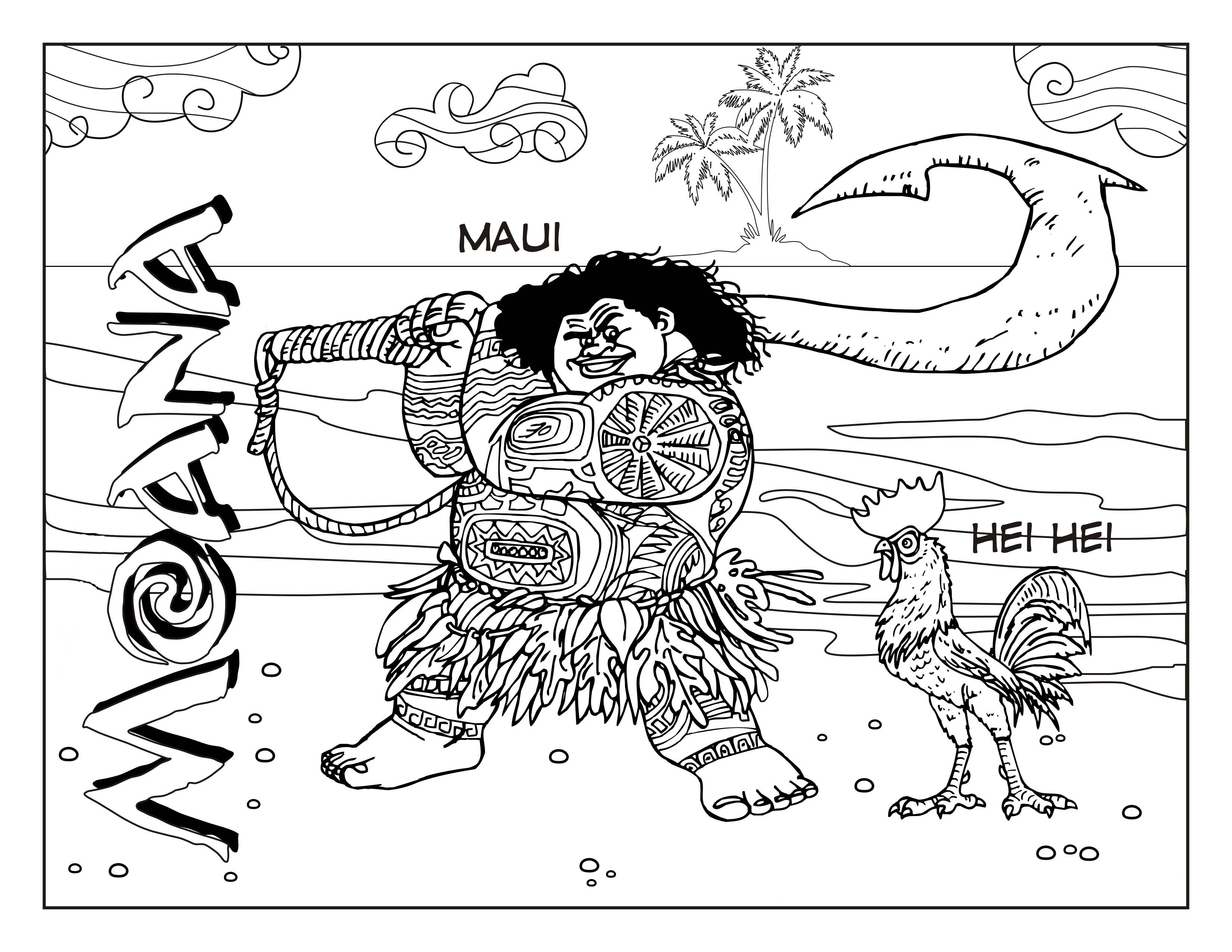 Moana coloring pages to download