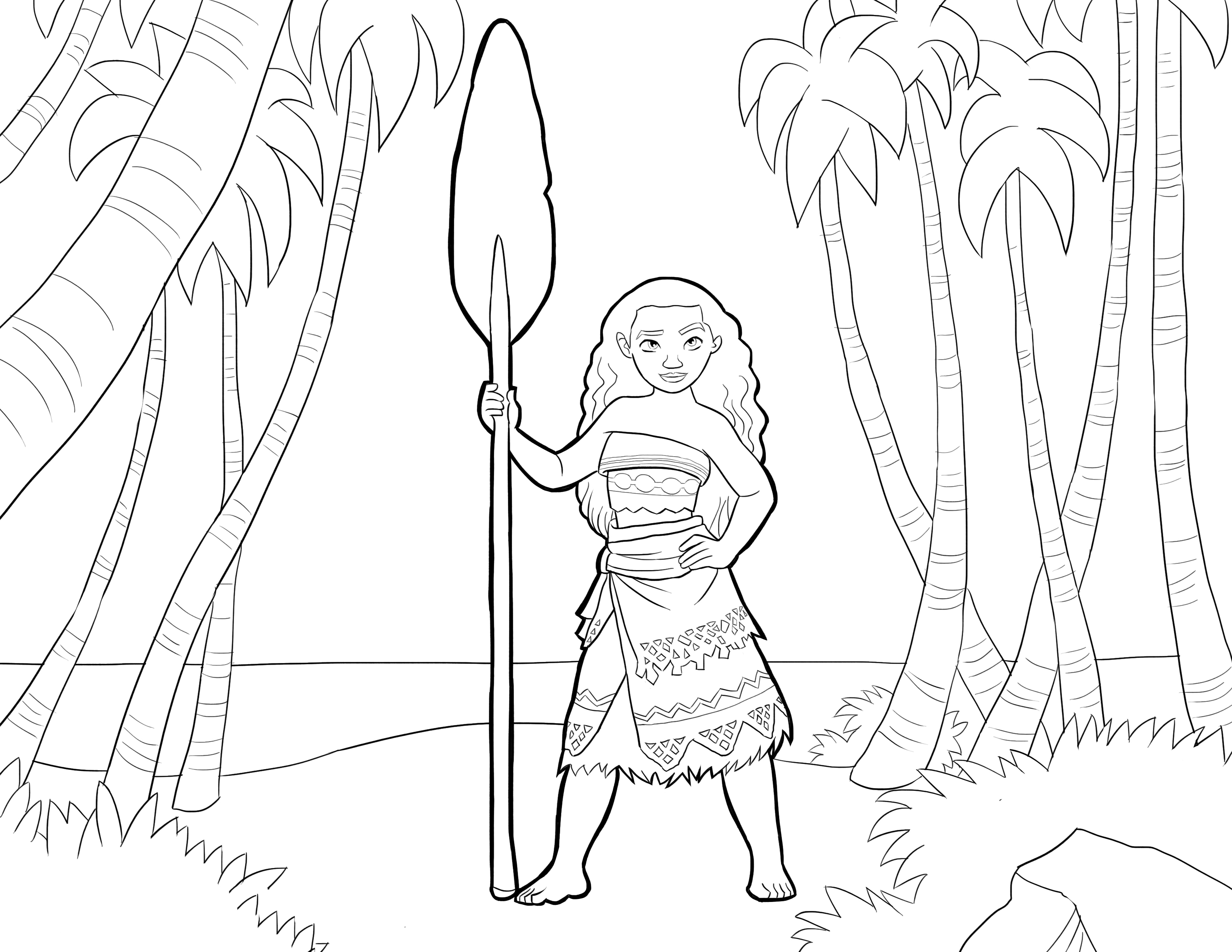 Moana coloring pages to download and print for free