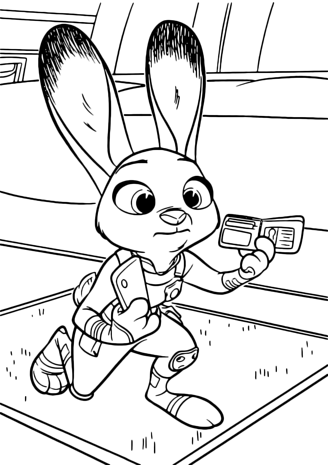 Judy Hopps coloring pages to download and print for free