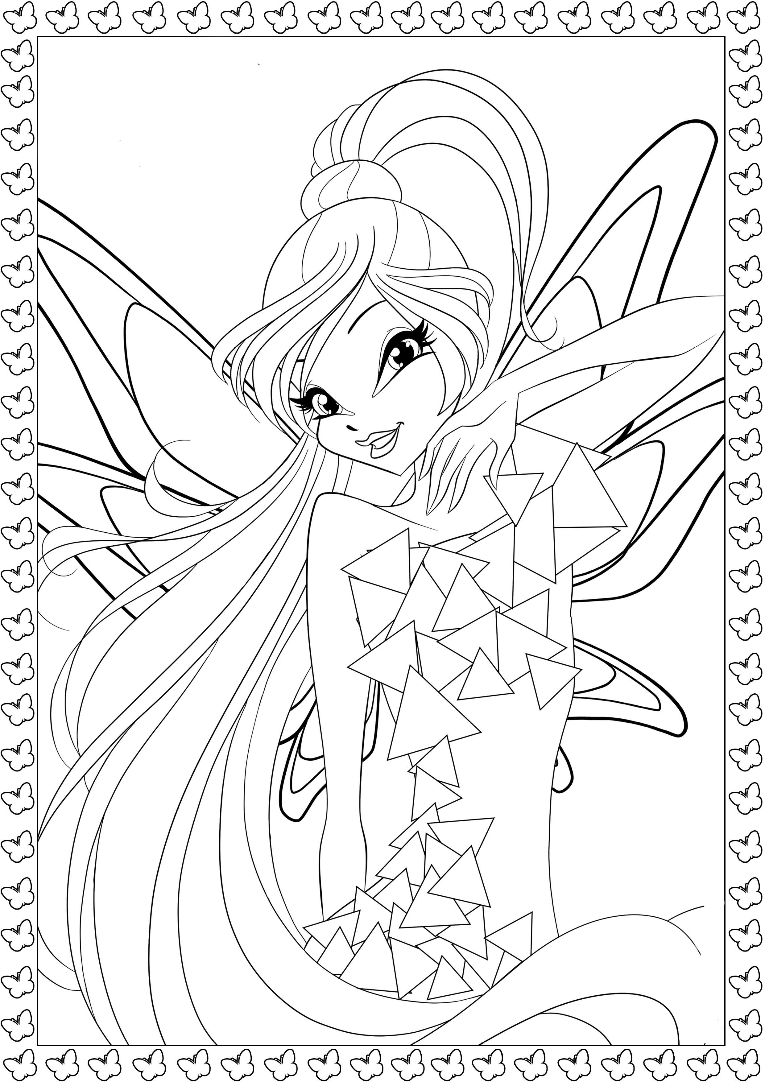 winx tynix coloring pages to and print for free