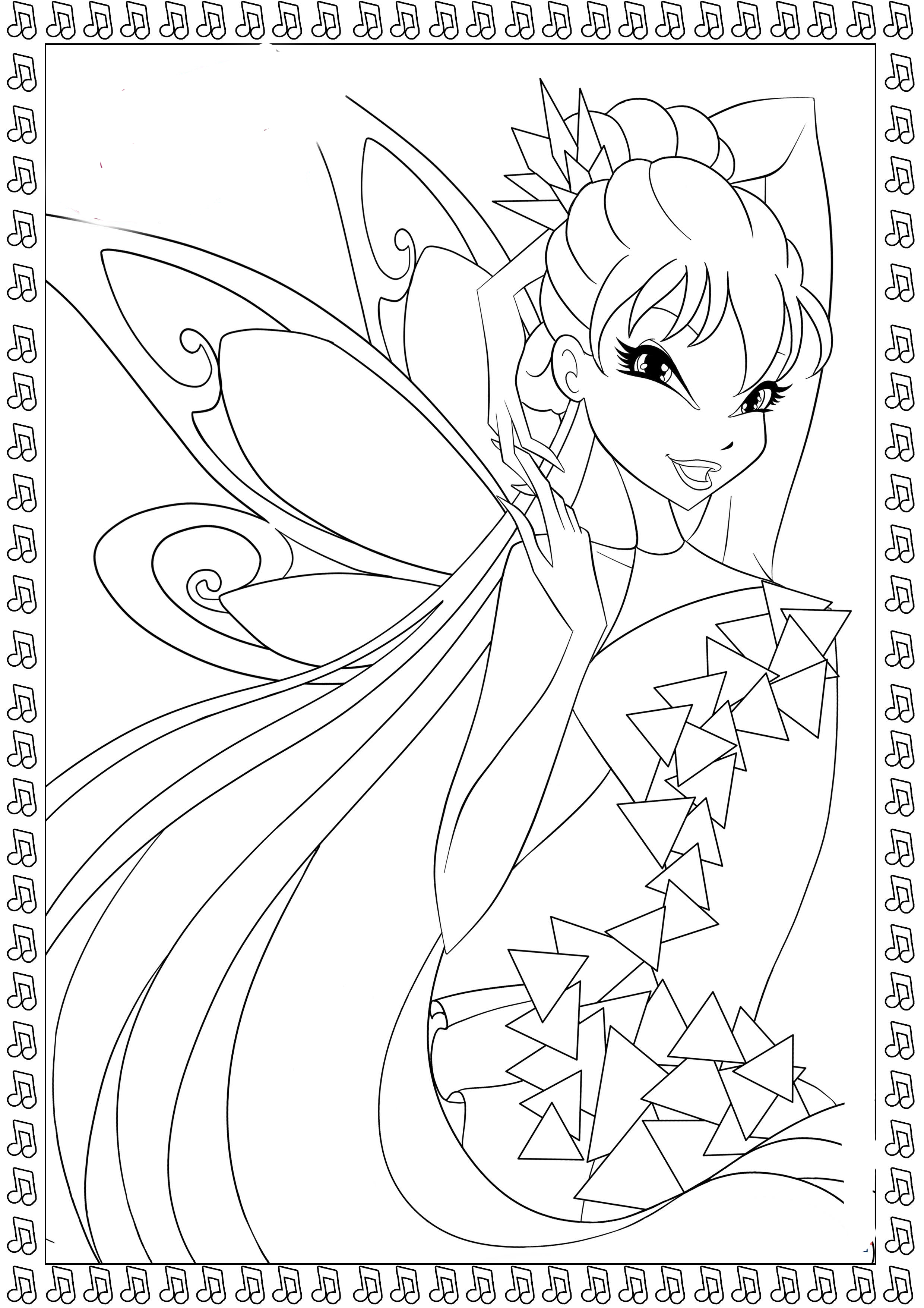Winx Tynix coloring pages to download and print for free