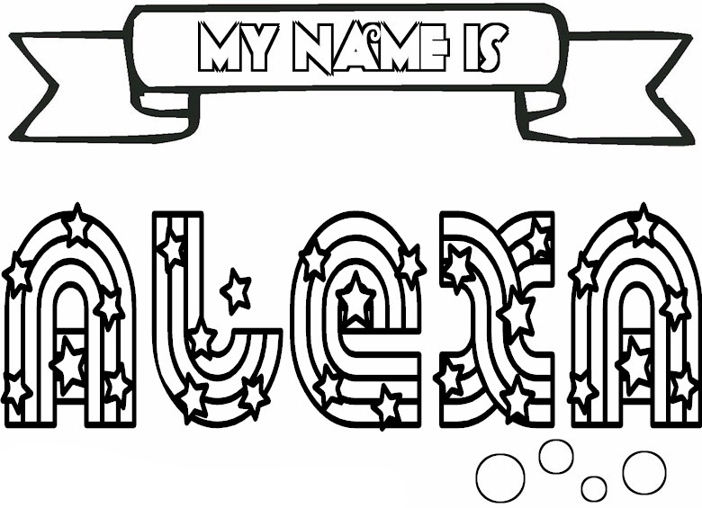 free name coloring pages printables - photo#18