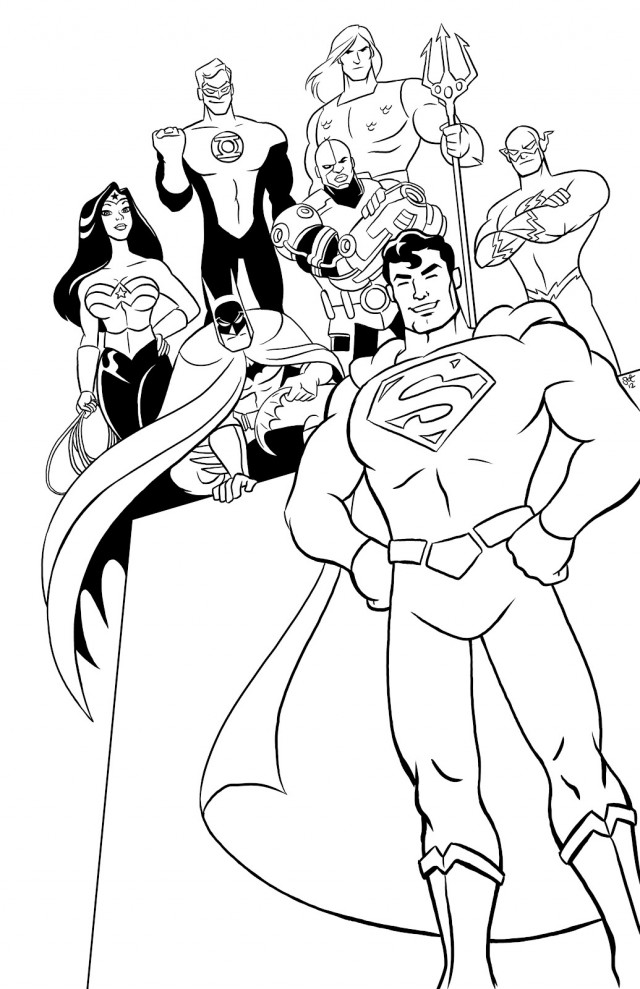 Justice league coloring pages to